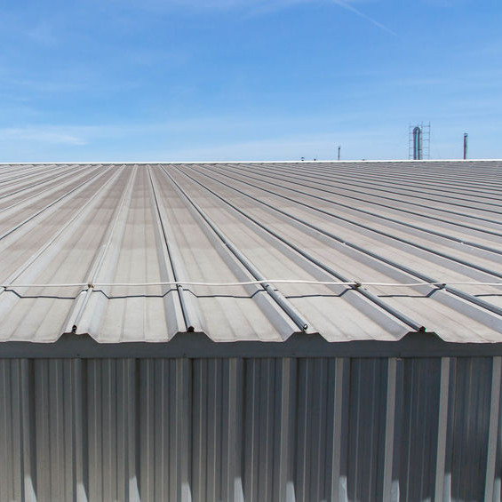 A Metal Roof on a Commercial Building.
