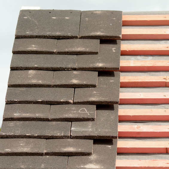Roofing Tiles on Wooden Battens.