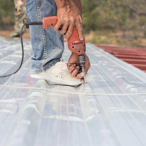 metal corrugated roof work