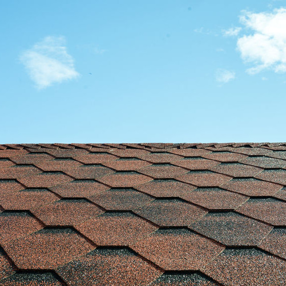 Architectural Shingles on a Roof.