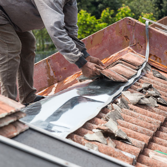 Repairing a Roof After a Storm.