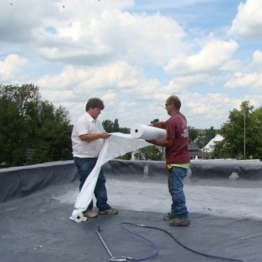 Roofers Install EPDM Roofing