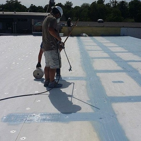 Roofers Repair a Flat Roof