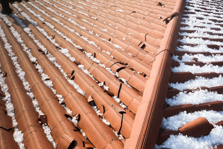 crack clay roofing from hail